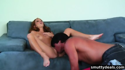 Beautiful Petite Redhead Gets Thrown About And Fucked - scene 3