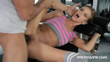 Blonde Sarah Kay Gets Assfucked In The GYM... - scene 8
