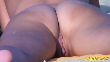 Voyeur NUDIST Amateur Couple - Back Pussy Close Up - scene 7