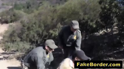 Illegal immigrant gets caught so she must sucks agent s stiff dick and takes it in her pussy