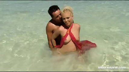 Kathy Anderson Goes Wild On A Tropical Beach... - scene 1