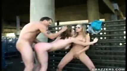 Hardcore Threesome in Public! Part 3 - scene 5