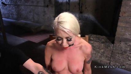 Tied blonde slave has tough torment - scene 2