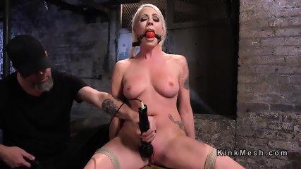 Tied blonde slave has tough torment - scene 4