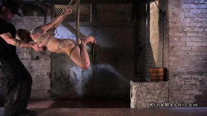 Tied blonde slave has tough torment - scene 6