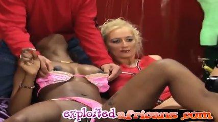 Interracial hotties get banged hard in couple swap - scene 2