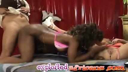 Interracial hotties get banged hard in couple swap - scene 6