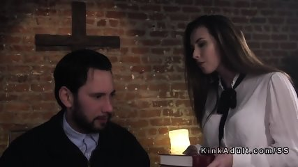 Paroled criminal punishes Mormon babe - scene 4