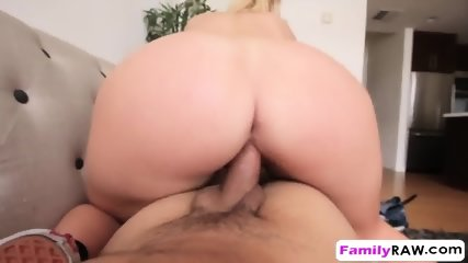 Young curvy blonde Melissa May mounts hard dick and fucks in cowgirl position - scene 5