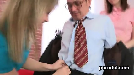 Fervent bookworm is tempted and reamed by her older teacher - scene 5