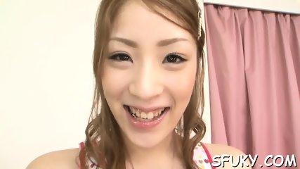 Flexible Asian enjoys dildo - scene 5