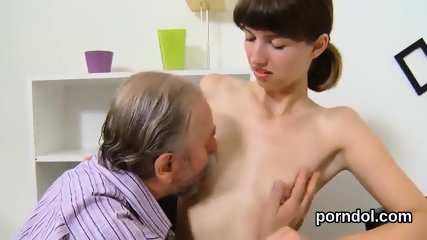 Lovesome schoolgirl gets seduced and plowed by her older teacher