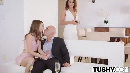 TUSHY Riley Reid And Adriana Chechik Anal Gapes - scene 4