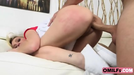 Kristina Reese getting her tight cunt fucked by a young stud