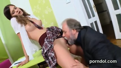 Sweet schoolgirl is seduced and shagged by her aged teacher