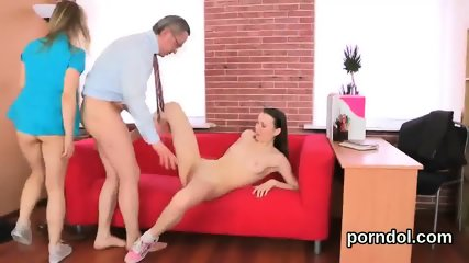 Sultry college girl gets tempted and fucked by her aged teacher