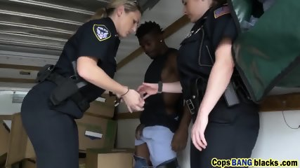 Two busty female police officers getting fucked hard by a BBC!
