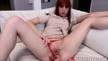 She is the submissive and her BF is her rough master