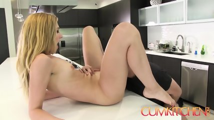 CUM KITCHEN: Tall Blonde Babe Alexa Grace Gets Her Pussy Wrecked In The Kitchen - scene 8
