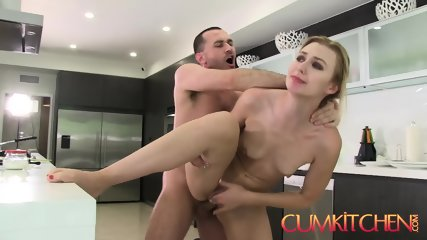CUM KITCHEN: Tall Blonde Babe Alexa Grace Gets Her Pussy Wrecked In The Kitchen