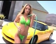 Carwash babe ready to fuck - scene 3