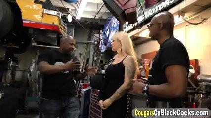 Big booty milf tag teamed by black cocks