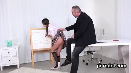 Elegant schoolgirl gets seduced and pounded by her aged mentor