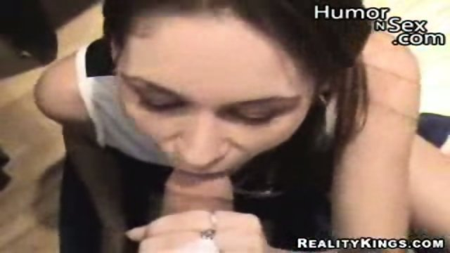 Brunette has sex for some quick cash