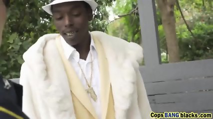 Hot white cops arrest pimp and fuck him