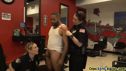 Black dude forced to bang two cops