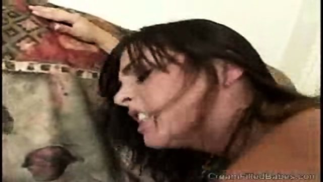 Sexy Brunette Rides Her Man On The Living Room Sofa