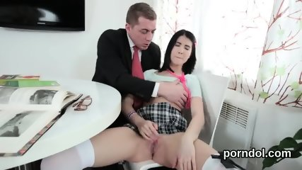 Sultry schoolgirl is seduced and nailed by her elderly instructor
