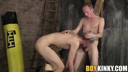 Skinny Dude Enjoys Being Smashed By His Tattooed Master