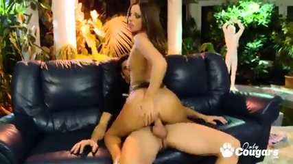 Perfect ass Debbie White riding on huge cock
