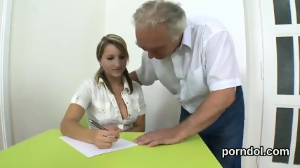 Fervent bookworm is seduced and plowed by her senior tutor