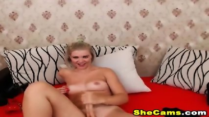 Gorgeous Blonde Shemale Masturbate On Cam