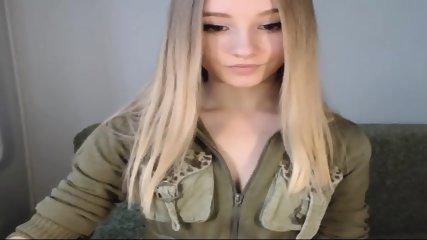 Pretty Blonde Teen Flashes Tits On Webcam - scene 8