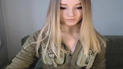 Pretty Blonde Teen Flashes Tits On Webcam - scene 3