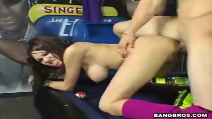 Adrenalynn is fucked doggy on a pooltable