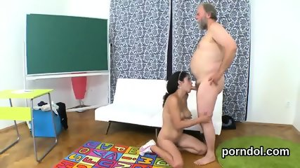 Lovely schoolgirl is seduced and penetrated by her senior mentor