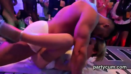 Flirty cuties get absolutely insane and undressed at hardcore party