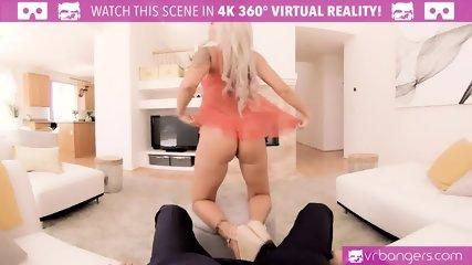 VR PORN-Nina Elle masturbates for her daughter s boyfriend