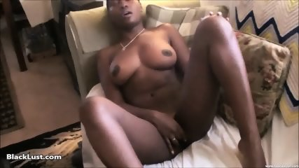 Ebony Babe Plays With Herself - scene 10