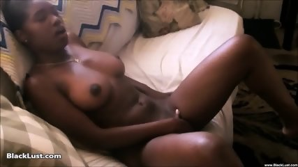 Ebony Babe Plays With Herself - scene 4