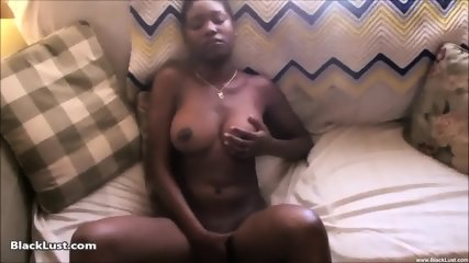 Ebony Babe Plays With Herself - scene 6