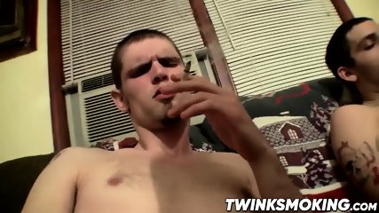 Sexy Twinks Drac And Nolan Jerking Off While Smoking Cigars