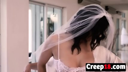 Sexy bride banged by horny creep