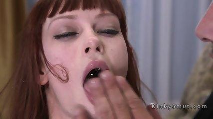 Gardener ties up and fucks redhead babe