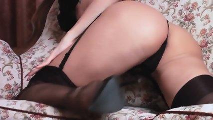 Teasing In Seamed Stockings - scene 2