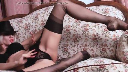 Teasing In Seamed Stockings - scene 6